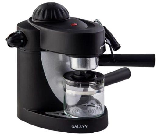 Galaxy GL0752 – недорогой аппарат рожкового типа для приготовления вкуснейшего кофе в домашних условиях