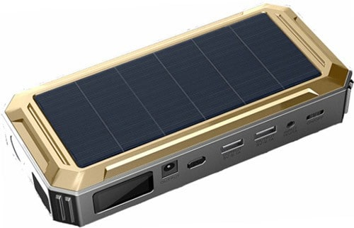 Пример «пускача» со встроенной солнечной батареей