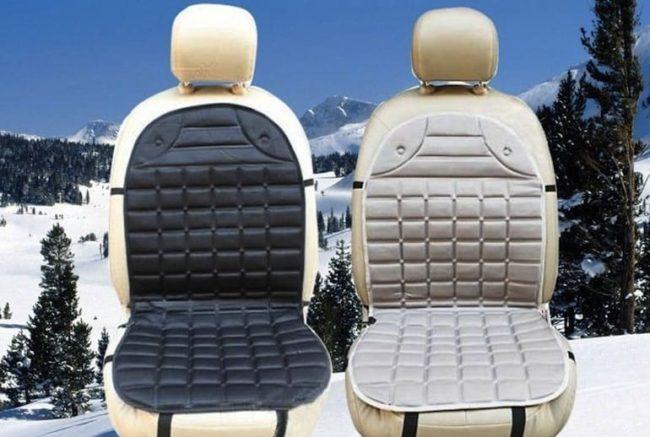 Подогреватель водительского сиденья в виде чехла с высокой спинкой более удобен в эксплуатации